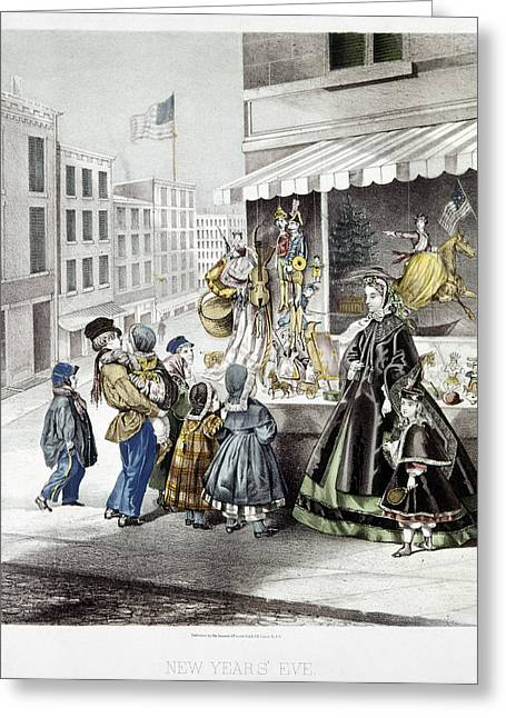 New Year's Eve, 1865 Greeting Card