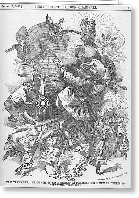 New Years Eve 1884 Greeting Card