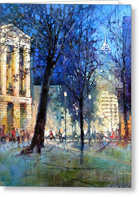 New Year's Eve Downtown Greeting Card