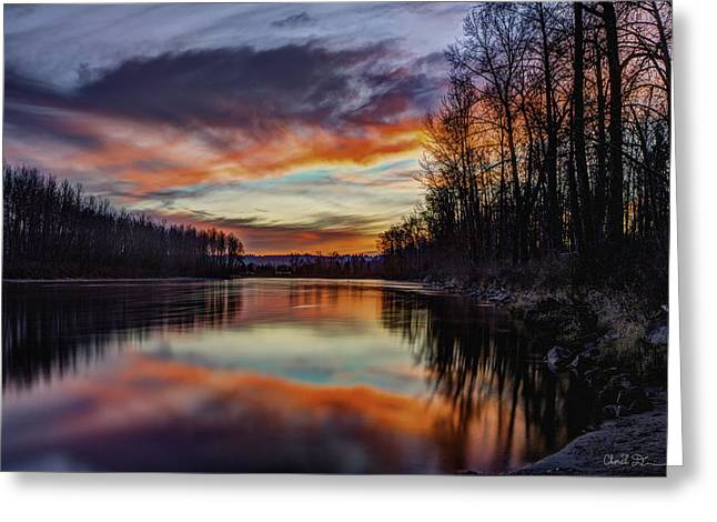 New Years Eve Sunset Greeting Card