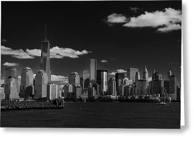 New York 1 Black And White Greeting Card