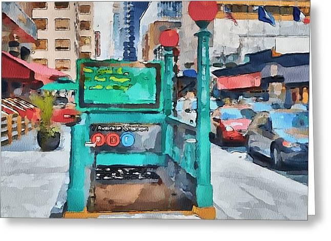 New York 8 Greeting Card by Yury Malkov