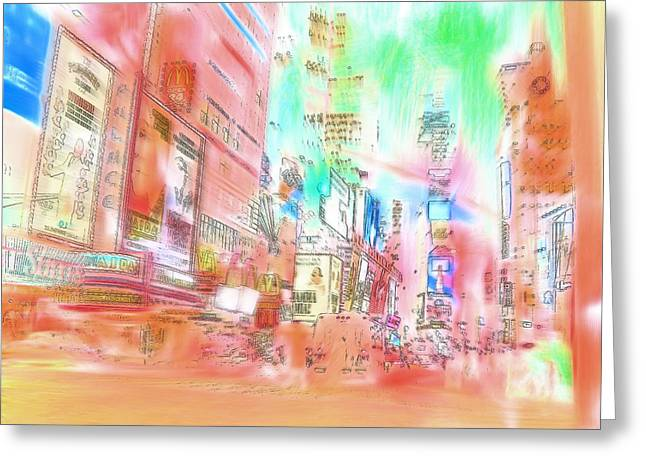 New York Abstract Greeting Card by Tom Gowanlock