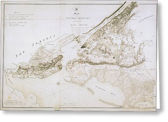 New York And Staten Islands Greeting Card by British Library