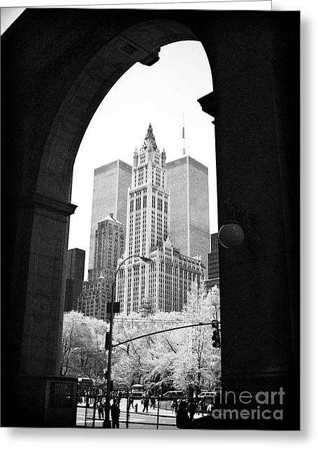 New York Arches 1990s Greeting Card