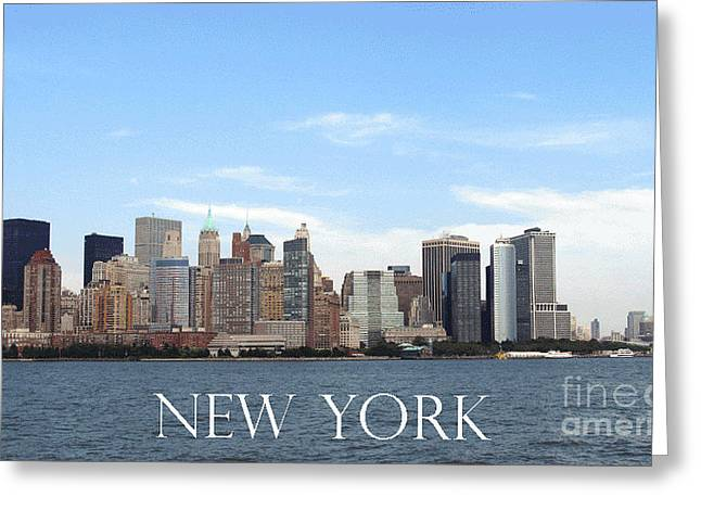 Greeting Card featuring the photograph New York As I Saw It In 2008 by Ausra Huntington nee Paulauskaite