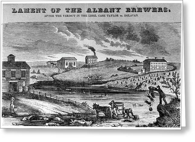 New York Brewers, C1840 Greeting Card by Granger