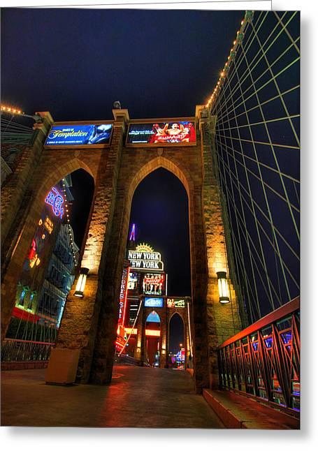 New York Bridge Greeting Card by Zachary Cox