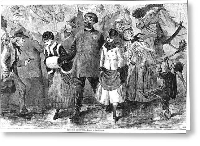 New York Broadway, 1870 Greeting Card by Granger