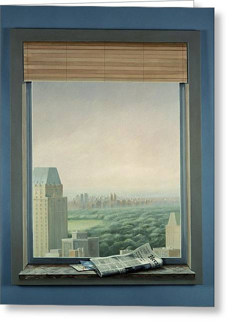 New York Central Park Greeting Card by Lincoln Seligman