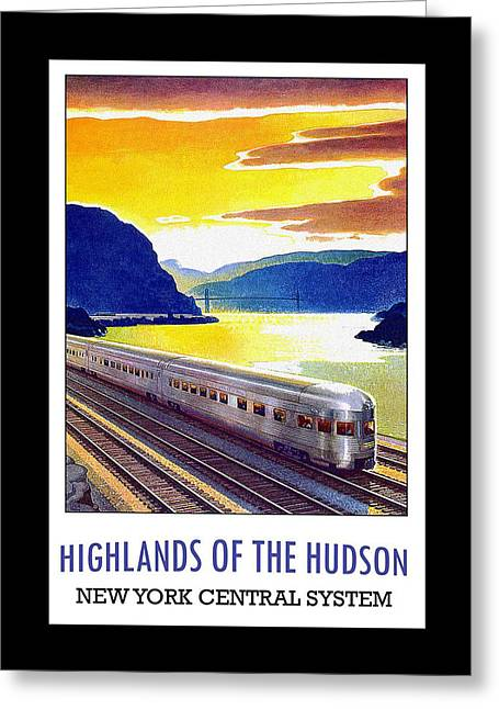 New York Central Vintage Poster Greeting Card