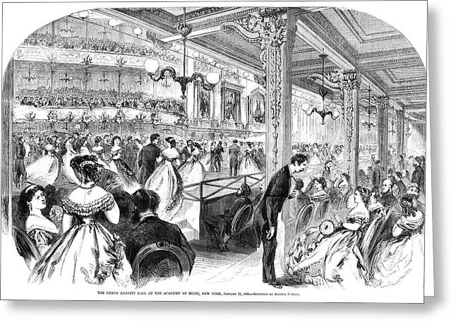 New York Charity Ball, 1866 Greeting Card by Granger