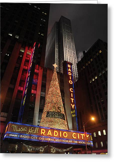 New York Christmas Greeting Card by Stephen Richards