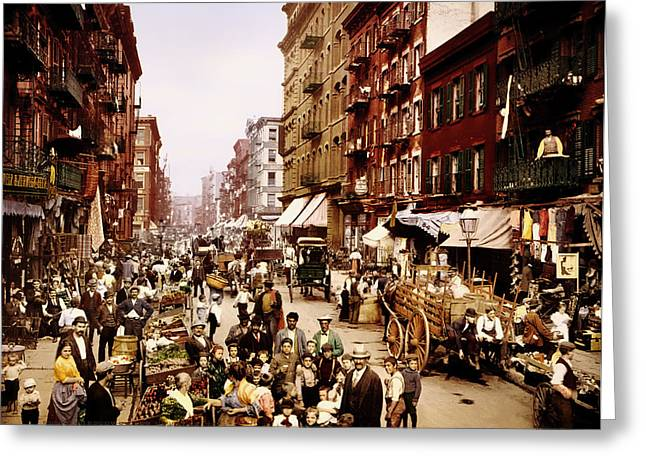 New York City 1900 Greeting Card by Mountain Dreams