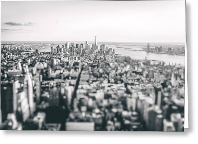 New York City - Above The Rooftops Greeting Card