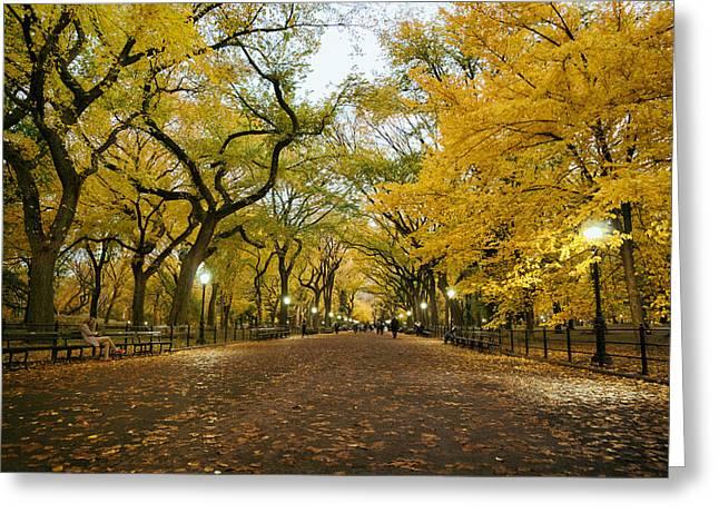 New York City - Autumn - Central Park - Literary Walk Greeting Card