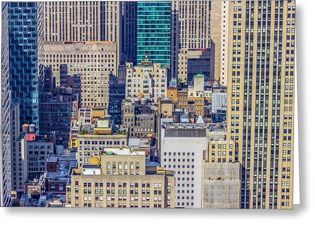 New York City Buildings Abstract Greeting Card