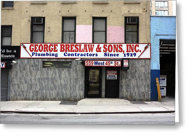 New York City Storefront 4 Greeting Card by Frank Romeo