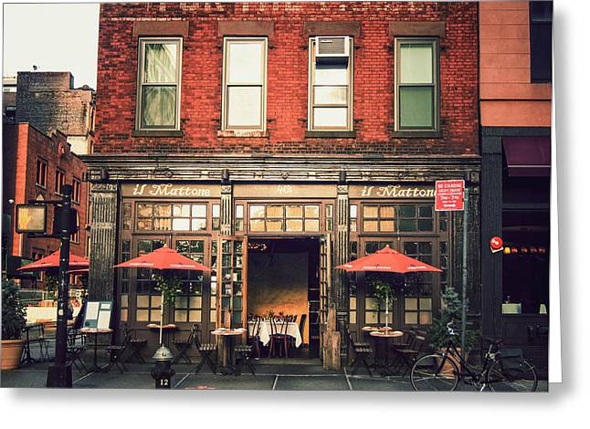 New York City - Cafe In Tribeca Greeting Card by Vivienne Gucwa