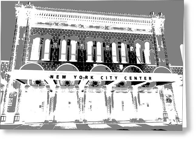 New York City Center Poster Greeting Card