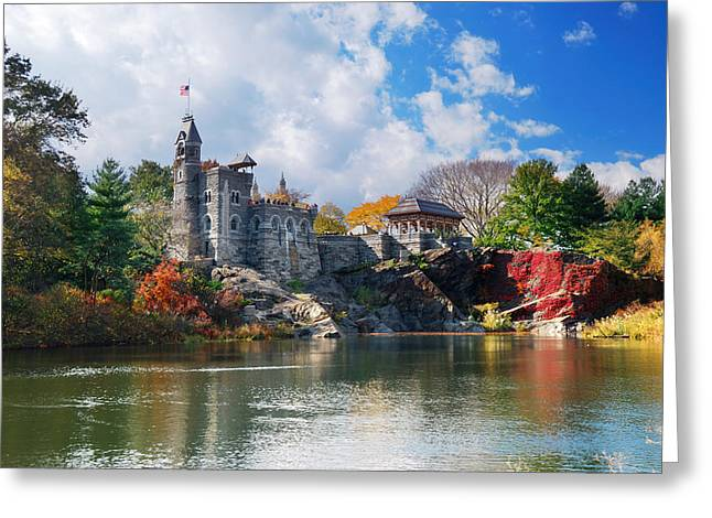 New York City Central Park Belvedere Castle Greeting Card