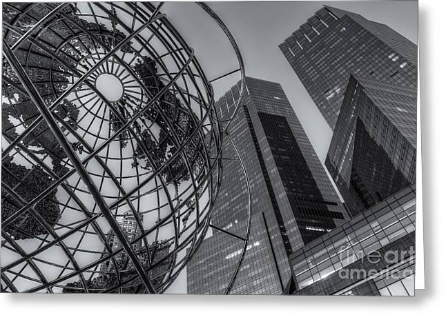 New York City Columbus Circle Landmarks II Greeting Card
