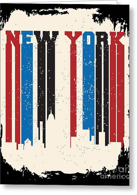 New York City Concept. Logo. Label Greeting Card