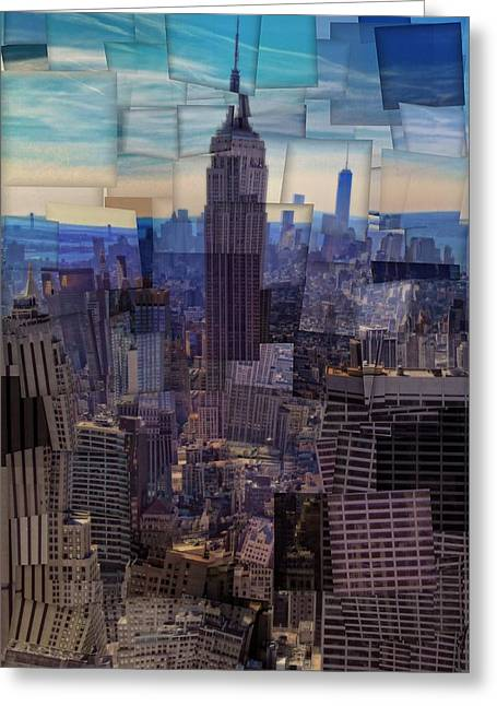 New York City Cubism Greeting Card