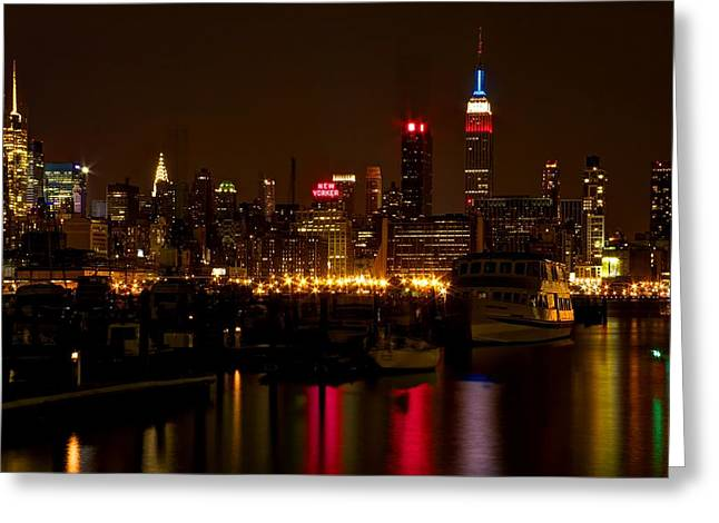 Greeting Card featuring the photograph New York City by Dave Files