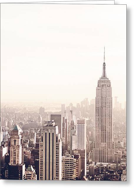 New York City - Empire State Building Greeting Card by Vivienne Gucwa