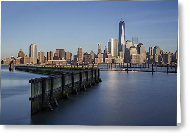 New York City Financial District Greeting Card by Susan Candelario