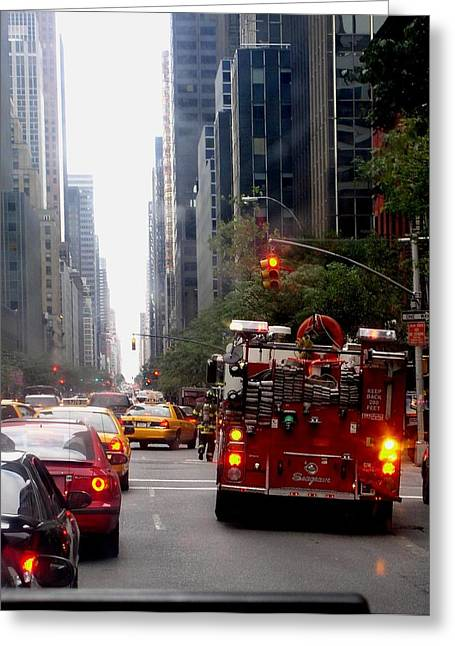 New York City Fire Department Truck Nyfd 2005 Greeting Card