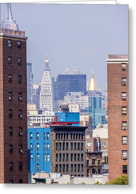 New York City From Brooklyn Bridge Greeting Card