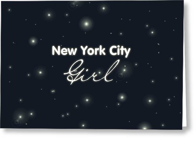 New York City Girl Greeting Card by Pati Photography
