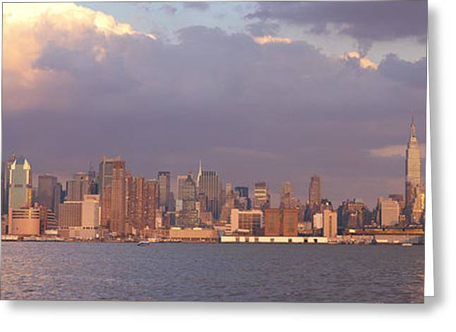 New York City Hudson River Ny Greeting Card by Panoramic Images