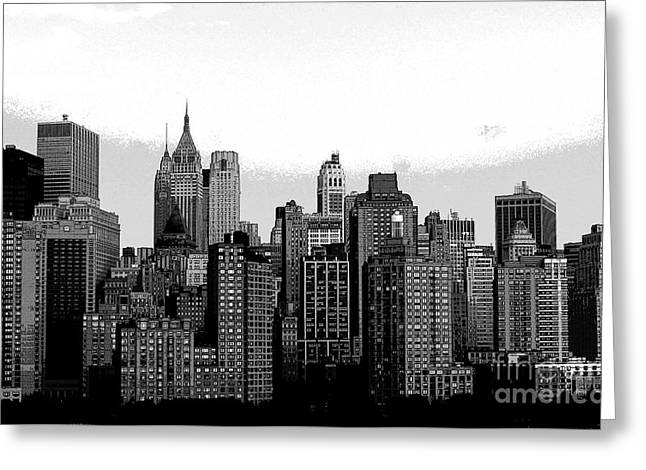 New York City Greeting Card by Kathleen Struckle