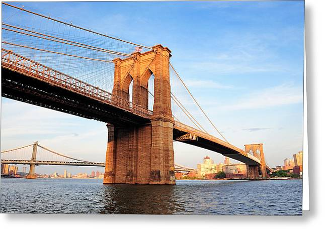 New York City Manhattan Brooklyn Bridge Greeting Card