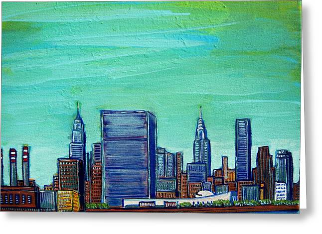 New York City Midtown Greeting Card by Mitchell McClenney