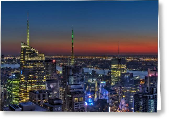 New York City Midtown Greeting Card by Susan Candelario