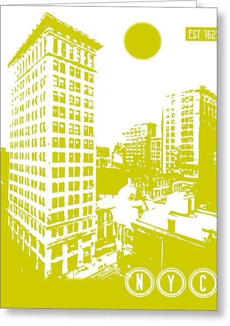 New York City Poster Greeting Card by Celestial Images