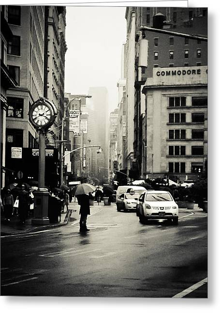 New York City - Rain - 5th Avenue Greeting Card by Vivienne Gucwa