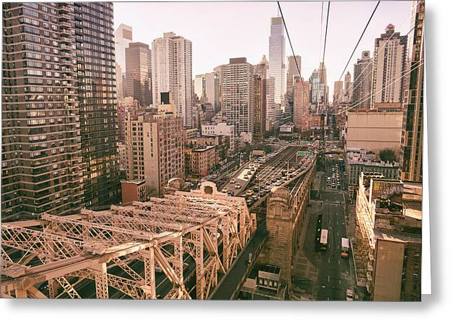 New York City Skyline - Above The City Greeting Card by Vivienne Gucwa