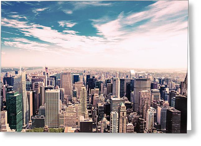 New York City - Skyline And Central Park Greeting Card by Vivienne Gucwa