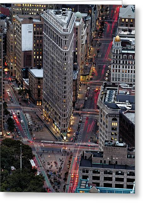 New York City Skyline Flatiron Building Greeting Card