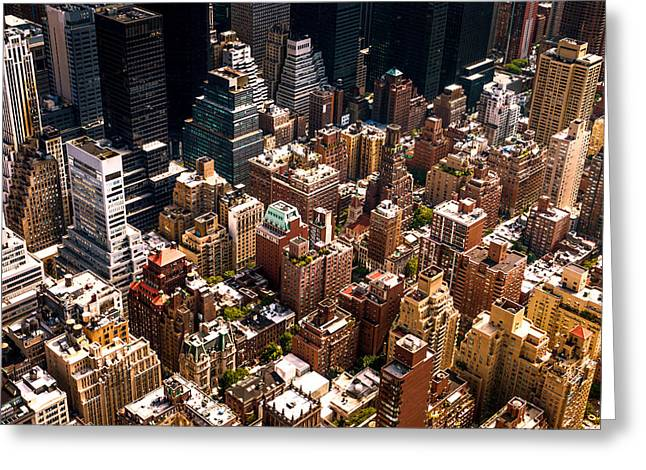 New York City Skyline From Above Greeting Card by Vivienne Gucwa