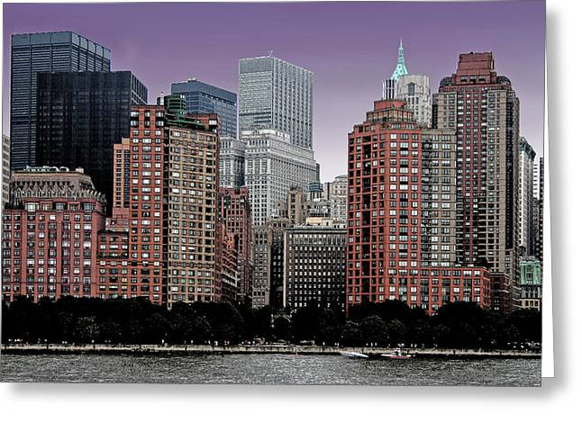 Greeting Card featuring the photograph New York City Skyline Image by Christopher McKenzie