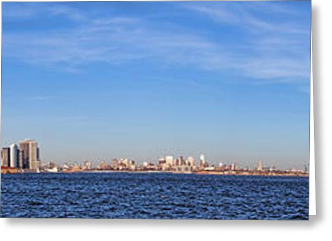 New York City Skyline Greeting Card by Olivier Le Queinec