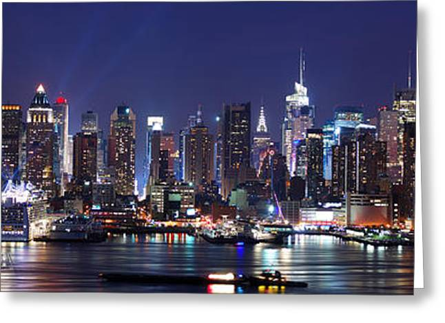 New York City Skyline Panorama Greeting Card