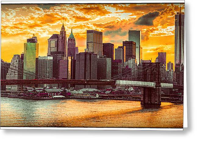 New York City Summer Panorama Greeting Card by Chris Lord