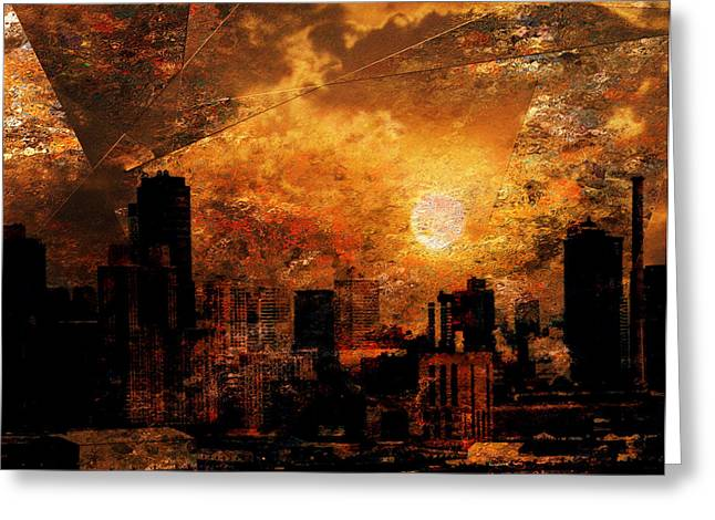 New York City Sunrise Greeting Card by Bruce Rolff
